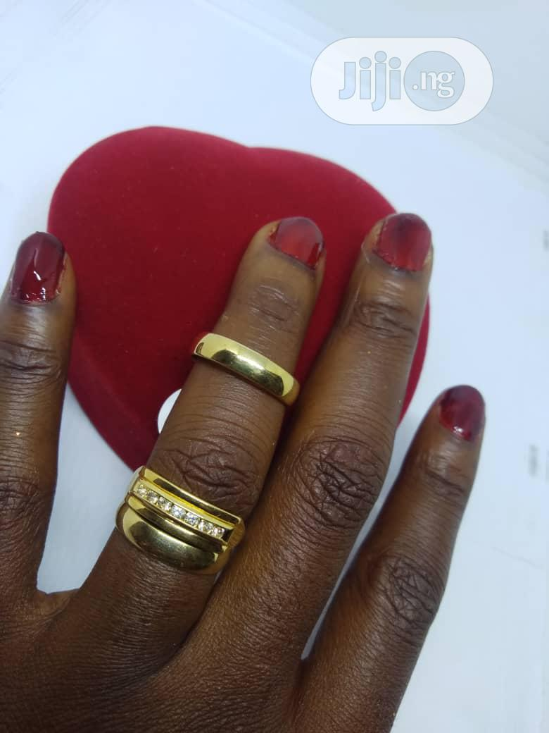 Real Romanian Gold Set Of Wedding Ring 0002 - Gold