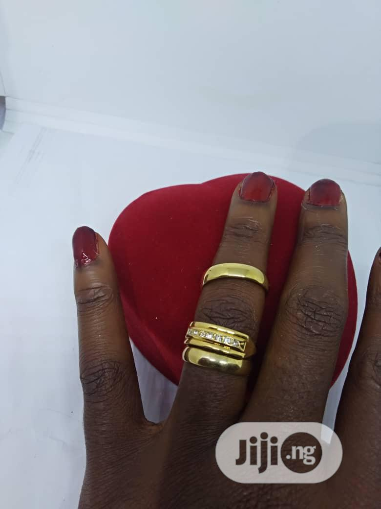Real Romanian Gold Set Of Wedding Ring 0002 - Gold | Wedding Wear & Accessories for sale in Ojodu, Lagos State, Nigeria