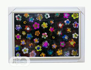 Big Ankara Wall Frame With Black Background | Arts & Crafts for sale in Lagos State, Ojodu