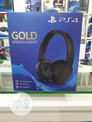 Playstation PS4 Gold Wireless Headset 100% Original Quality | Headphones for sale in Abuja (FCT) State, Wuse 2