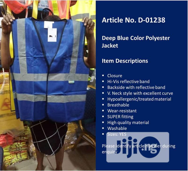 Deep Blue Quality Reflective Jacket
