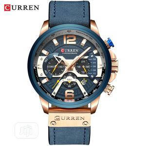 CURREN Blue Leather Chronograph Watch | Watches for sale in Rivers State, Port-Harcourt