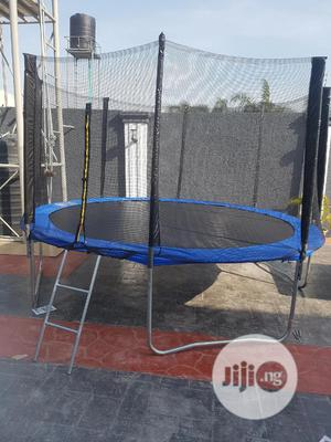 12feet Trampoline With Ladder   Sports Equipment for sale in Lagos State, Abule Egba