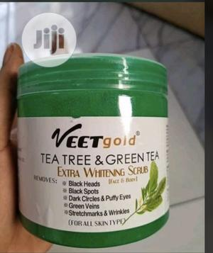 Veet Gold Green Tea Stretch Mark and Green Vein Scrub | Skin Care for sale in Lagos State, Amuwo-Odofin