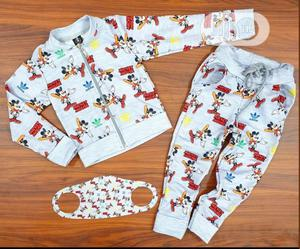 Adidas Mickey Joggers With Nose Mask | Children's Clothing for sale in Lagos State, Ifako-Ijaiye