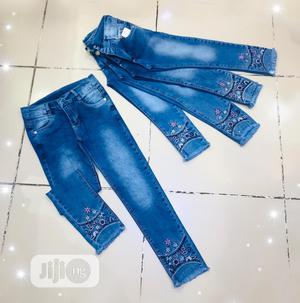 Girls Jeans With Embroidery   Children's Clothing for sale in Lagos State, Surulere