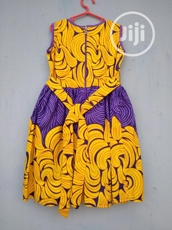 2k Easter Sales Splash Beautiful Dress Made With Ankara | Children's Clothing for sale in Lekki, Lagos State, Nigeria