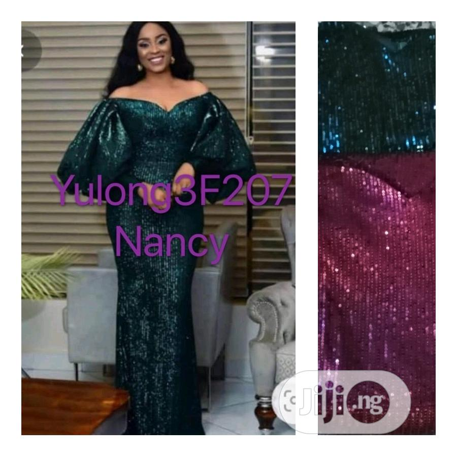 Quality Dinner Long Gown in Green