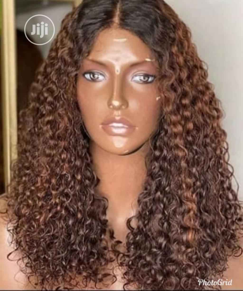 24 Inches Water Curl Wig With Closure