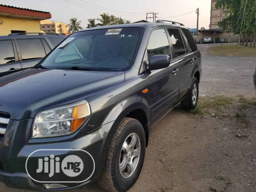 Honda Pilot 2007 EX 4x2 (3.5L 6cyl 5A) Gray | Cars for sale in Ikeja, Lagos State, Nigeria