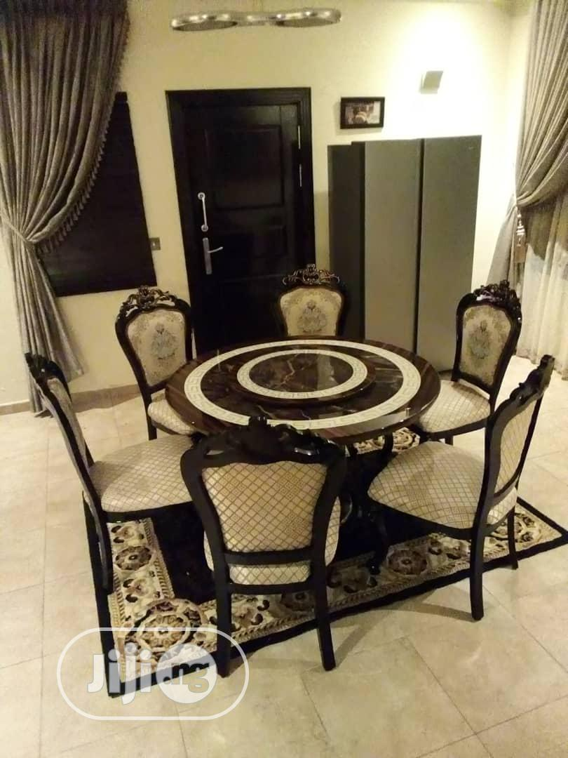 Quality Round Marble Dining Table With 6 Chairs