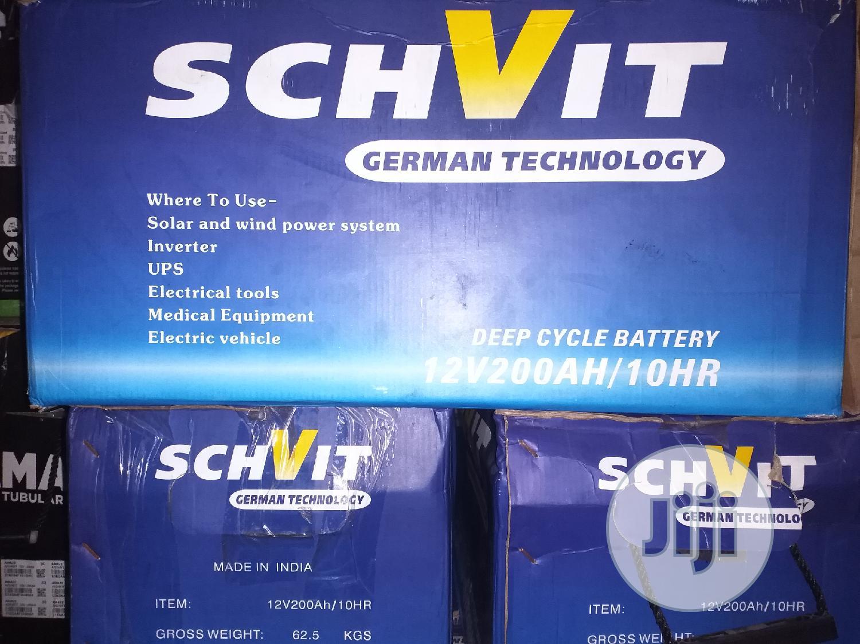 Schvit Solar Battery 12V 200ah