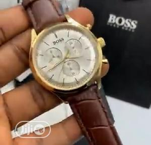 High Quality Hugo Boss Leather Watch   Watches for sale in Lagos State, Magodo