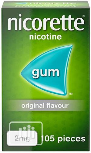 Nicorette Gum Nicotine 2mg (Stop Smoking Aid) - 105 Pieces   Vitamins & Supplements for sale in Lagos State, Ipaja