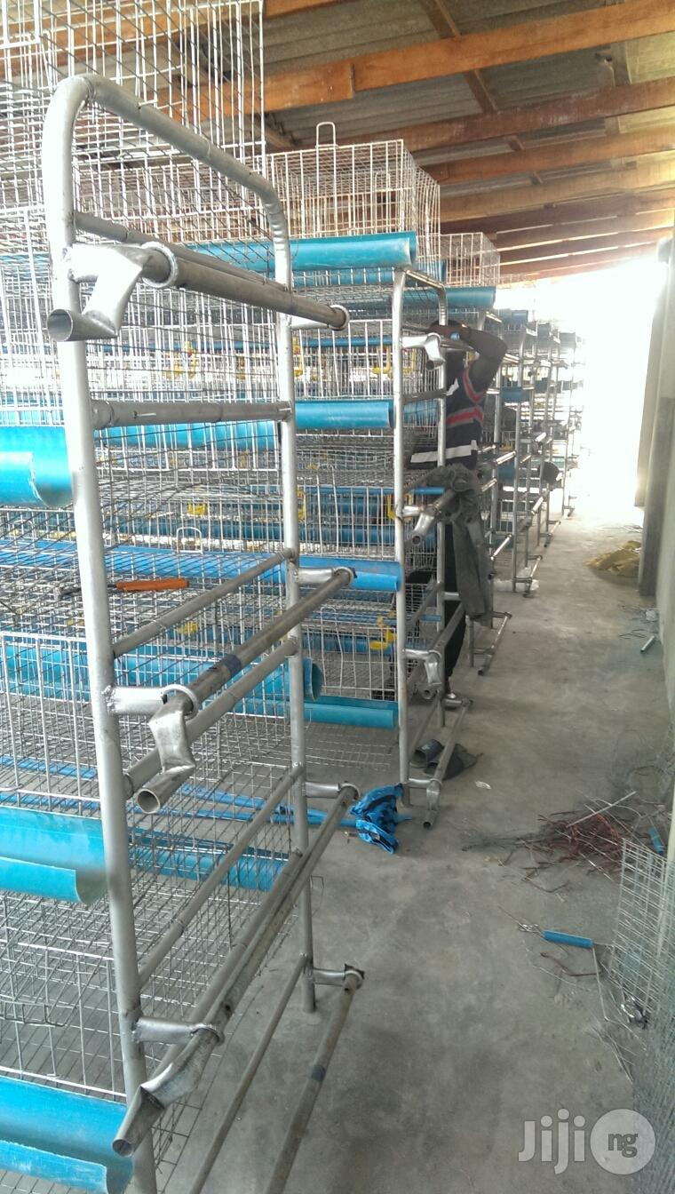 Dekoraj Semi Automatic H Type Battery Cage With Waste Deflector
