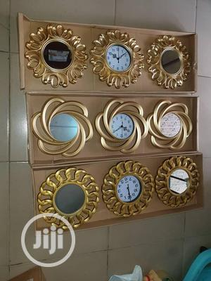 Wall Clock With Mirror | Home Accessories for sale in Lagos State, Ipaja