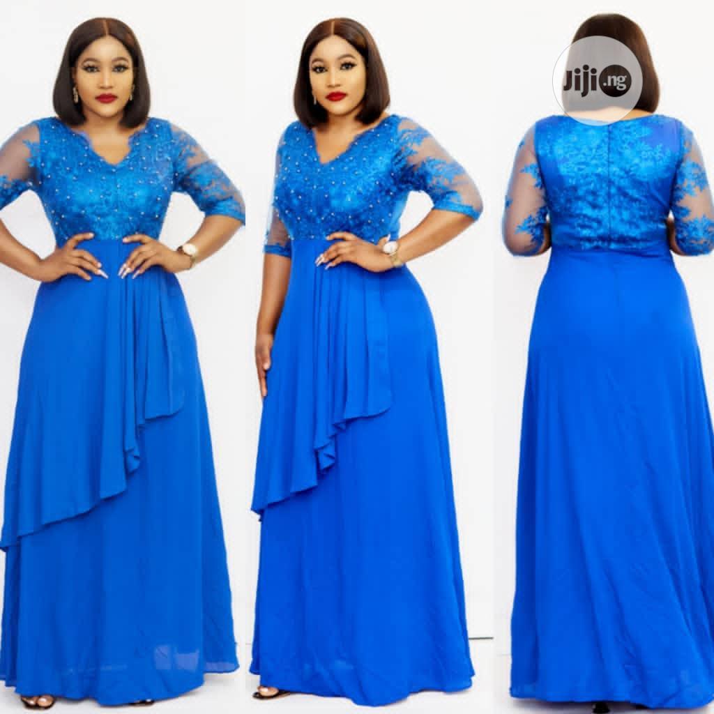 Long Quality Chiffon Dinner Gown | Clothing for sale in Lagos Island (Eko), Lagos State, Nigeria