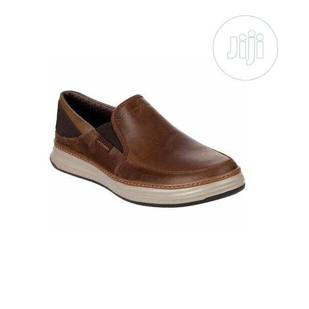 Archive: Skechers Brown Memory Foam Casual Leather Loafer