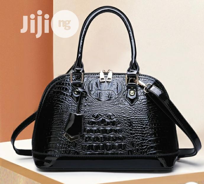 Vintage Crocodile Skin Leather Bag