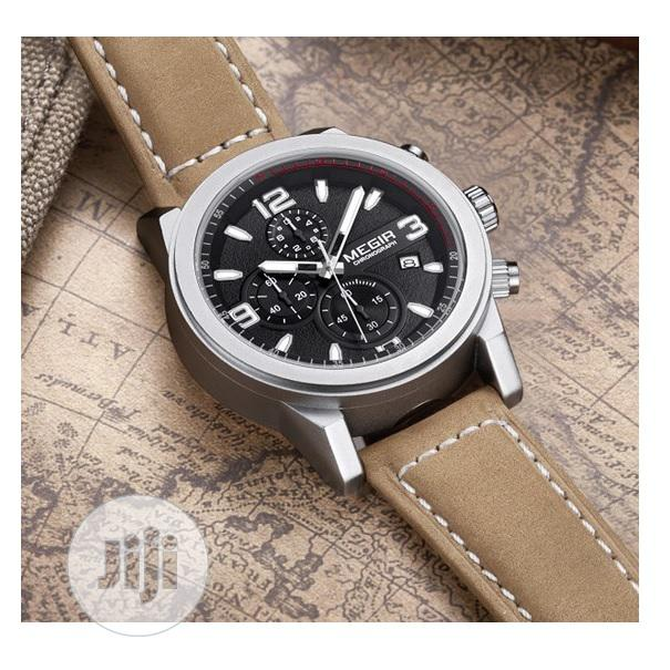 Archive: Sport Chronograph Leather Strap - Brown