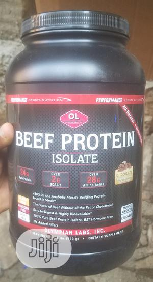 Olympian Labs Beef Protein Isolate, 2lbs; Chocolate   Vitamins & Supplements for sale in Lagos State, Ojo