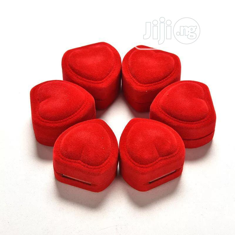 Red Heart Shaped Wedding/Proposal Ring Case