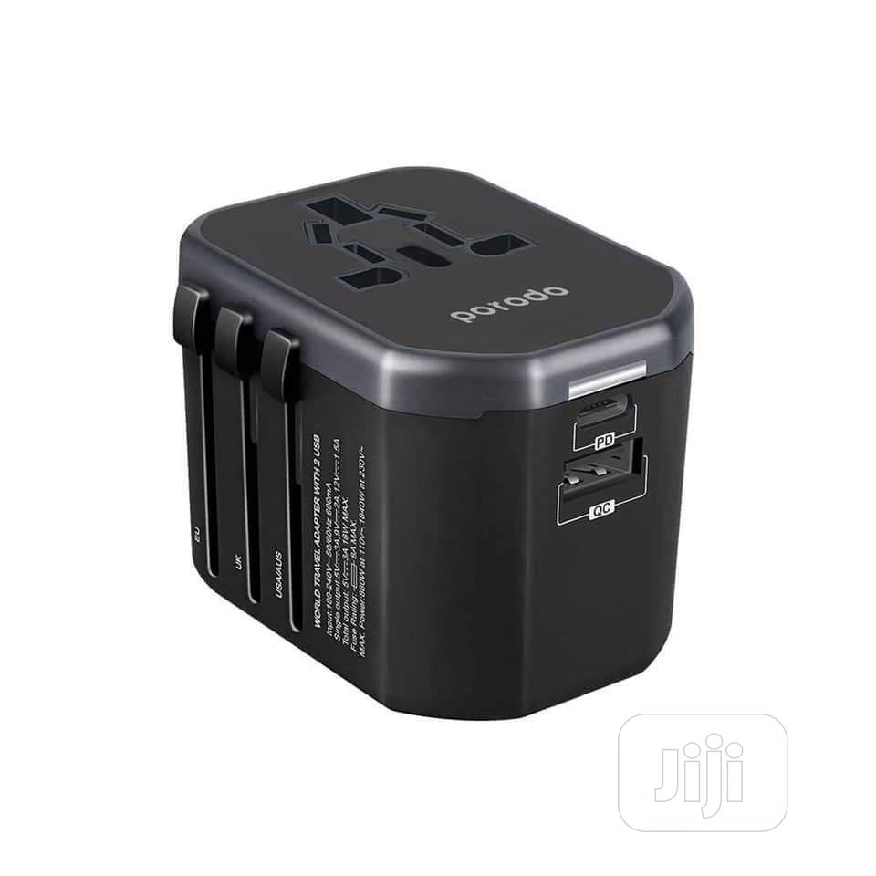 PORODO Universal Travel Charger   Accessories for Mobile Phones & Tablets for sale in Ikeja, Lagos State, Nigeria