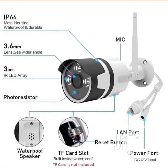 Ip Camera/ Wifi Camera With Memory Card..Mobile View Enabled