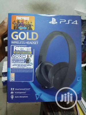 Gold Wireless Headset | Headphones for sale in Lagos State, Ikeja