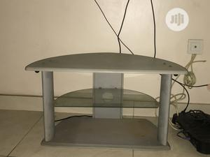 Solid Silver And Glass Tv Stand | Furniture for sale in Lagos State, Magodo