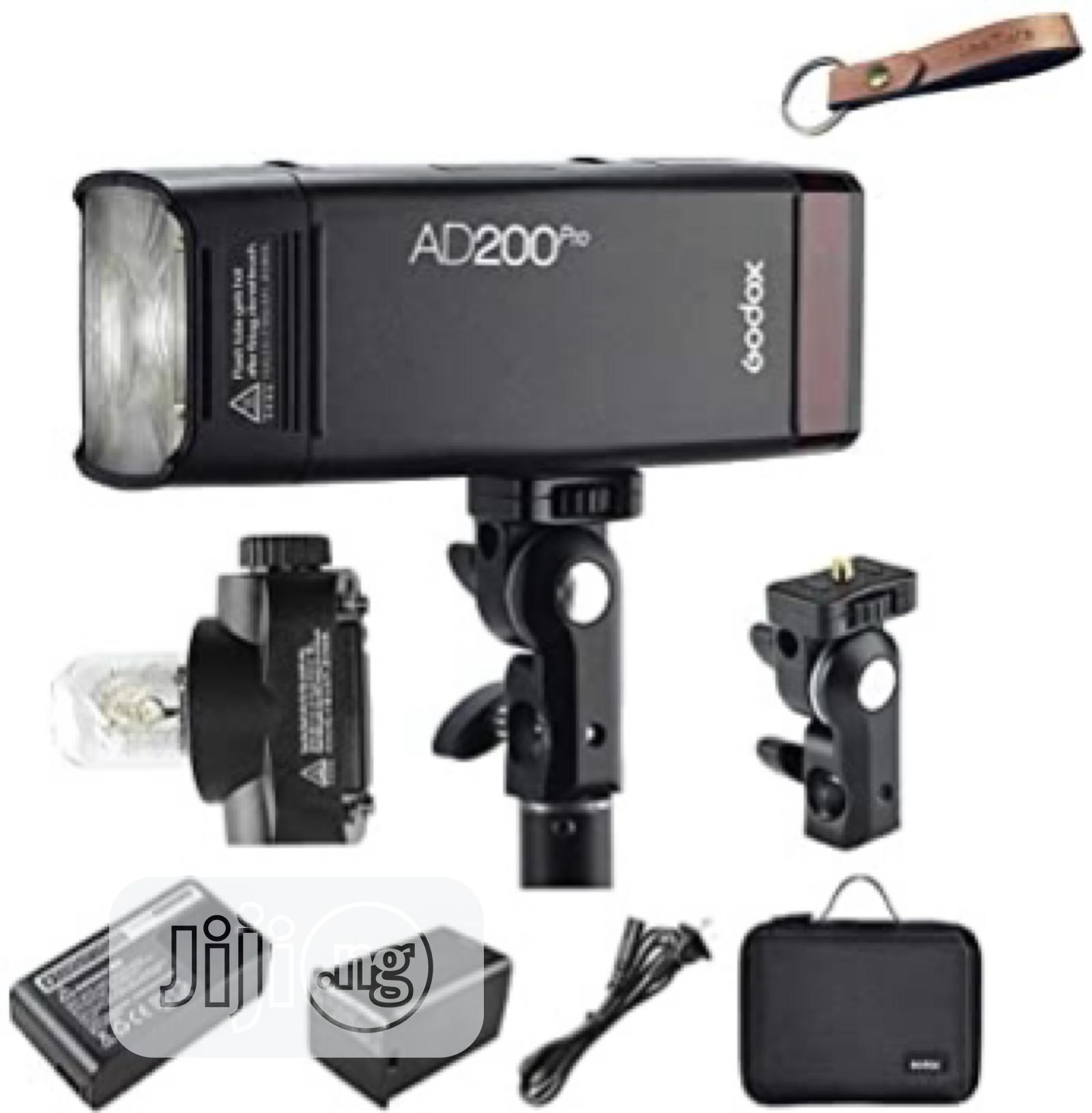Godox Ad200pro Pocket Flash With Double Head, 2.4G Wireless | Accessories & Supplies for Electronics for sale in Oluyole, Oyo State, Nigeria