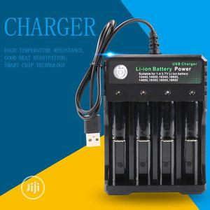 Battery Charger For 3.7V 18650 Battery 4 Port With USB Plug   Accessories & Supplies for Electronics for sale in Lagos State, Surulere
