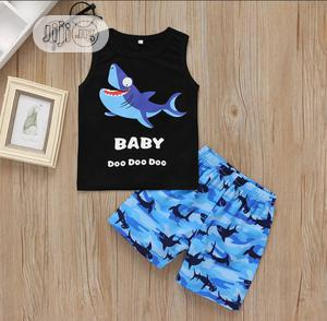 Baby Shark, Short and Armless Top   Children's Clothing for sale in Edo State, Benin City