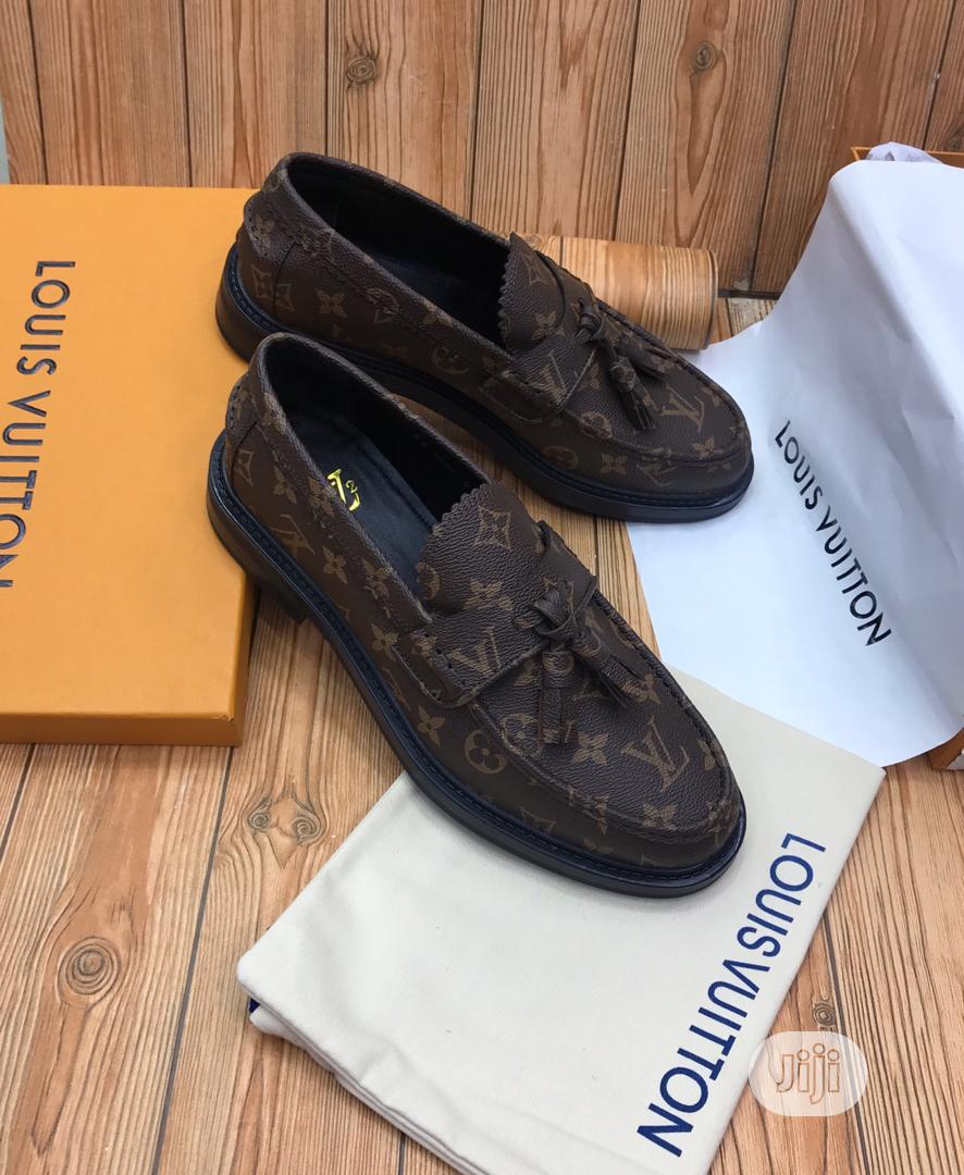 Louis Vuitton Luxury Men Leather Loafers