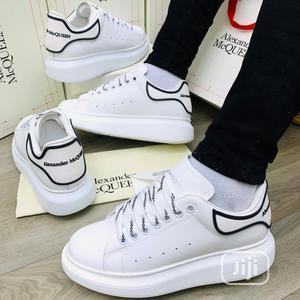 *ALEXANDER McQueen •WHITE/Black Stripe 40-46 | Shoes for sale in Lagos State, Lagos Island (Eko)