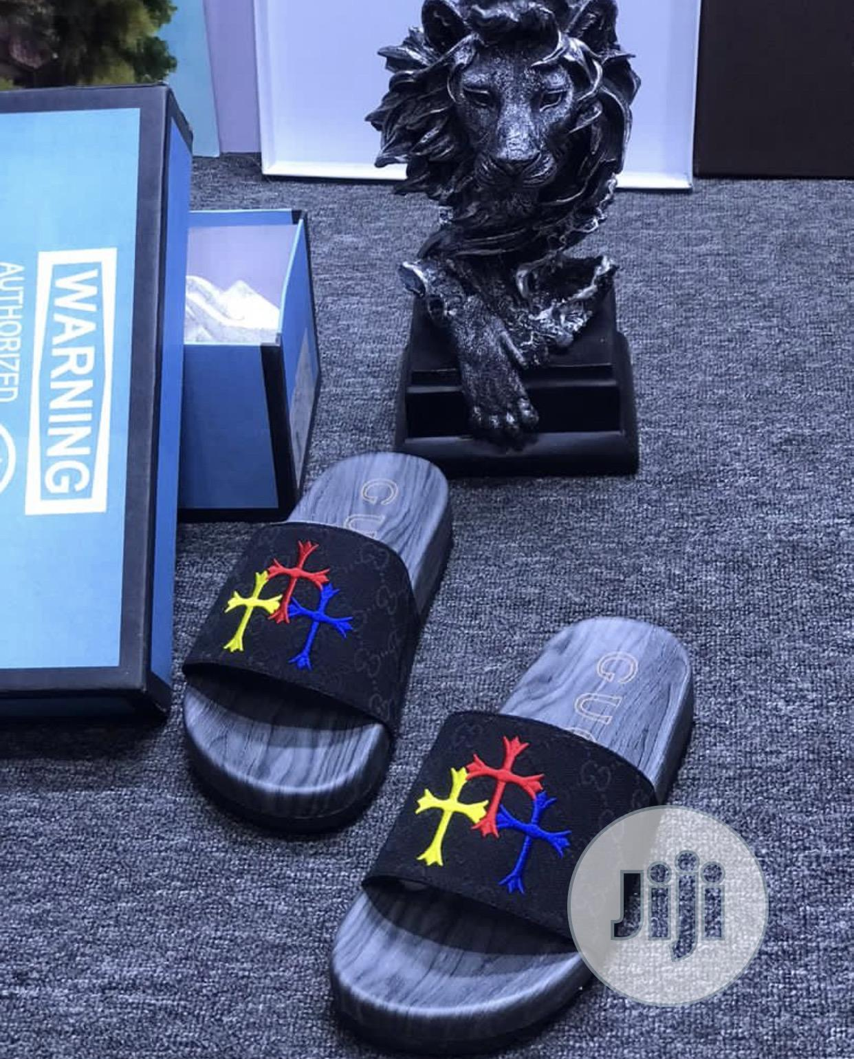 Designer Chrome Heart Slippers | Shoes for sale in Lagos Island (Eko), Lagos State, Nigeria
