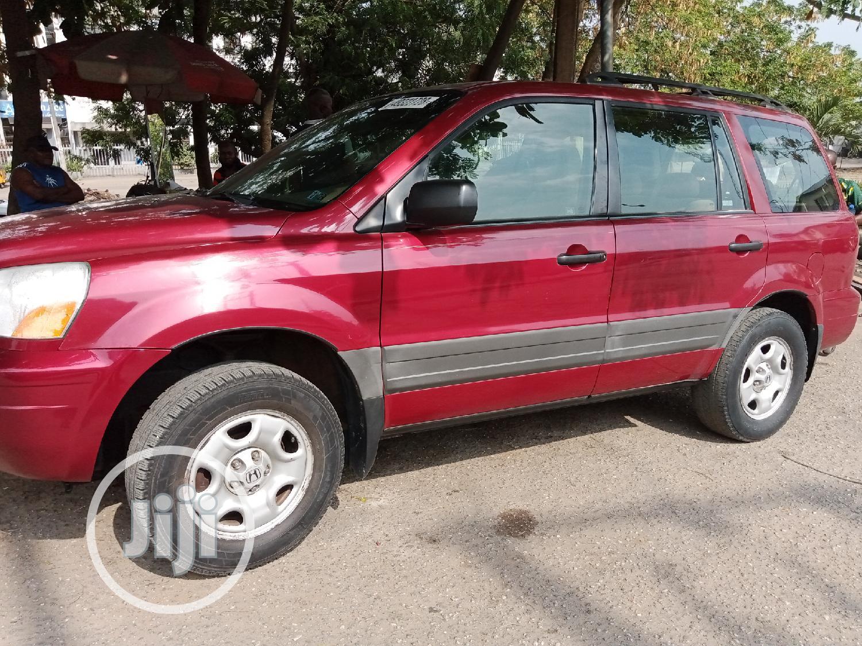 Honda Pilot 2005 EX 4x4 (3.5L 6cyl 5A) Red | Cars for sale in Amuwo-Odofin, Lagos State, Nigeria