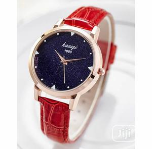 Mxre Rhinestone Leather Watch - Red   Watches for sale in Lagos State, Agege