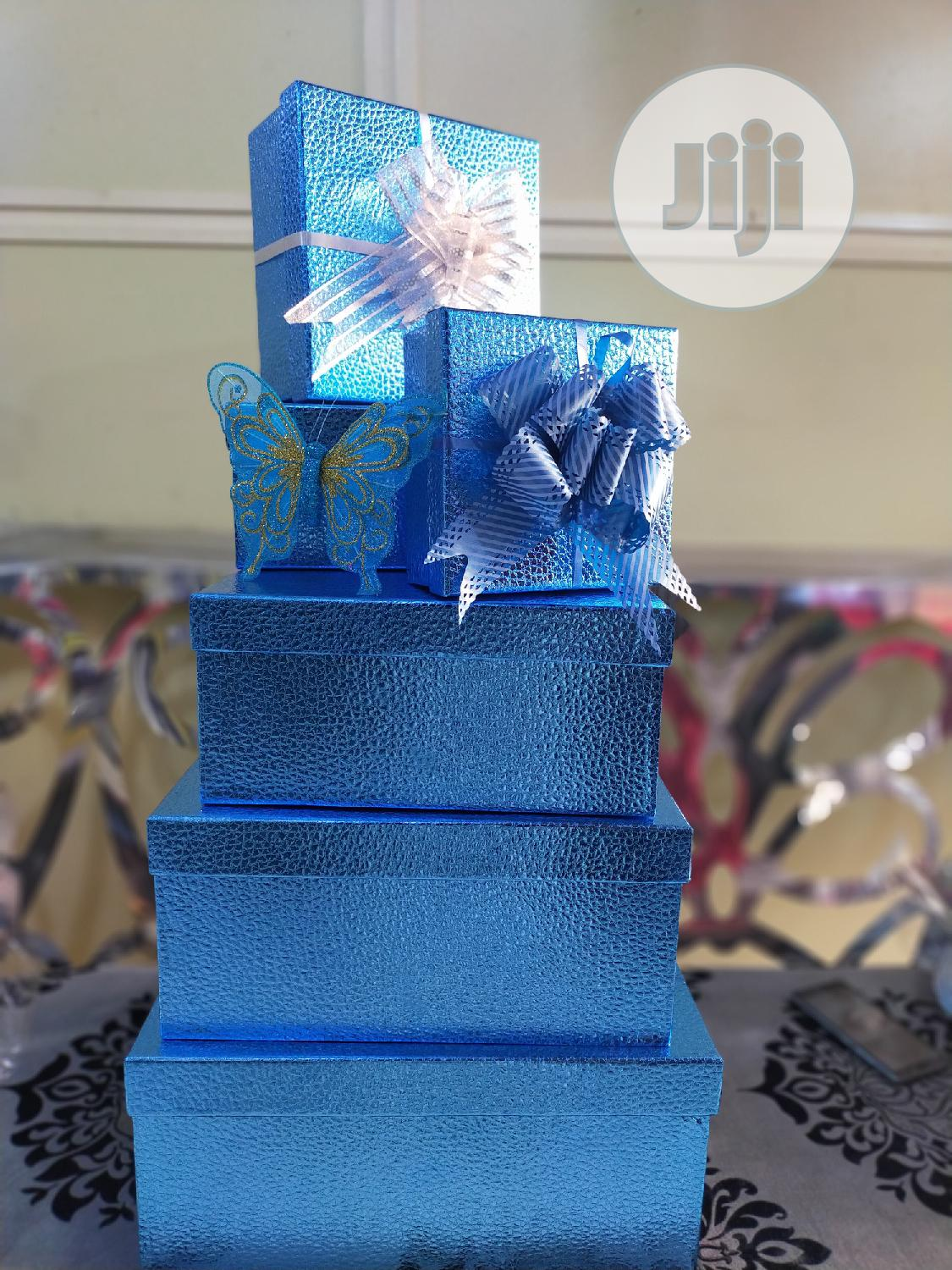 Blue Gift Boxes And Set