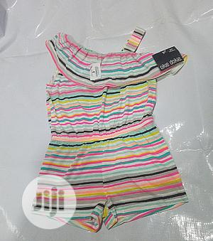 Girlsmono Strip Round Neck Jump Suit | Children's Clothing for sale in Lagos State, Yaba