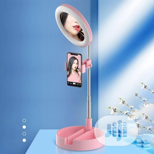 Ring Light With Phone Holder And Mirror | Accessories for Mobile Phones & Tablets for sale in Port-Harcourt, Rivers State, Nigeria