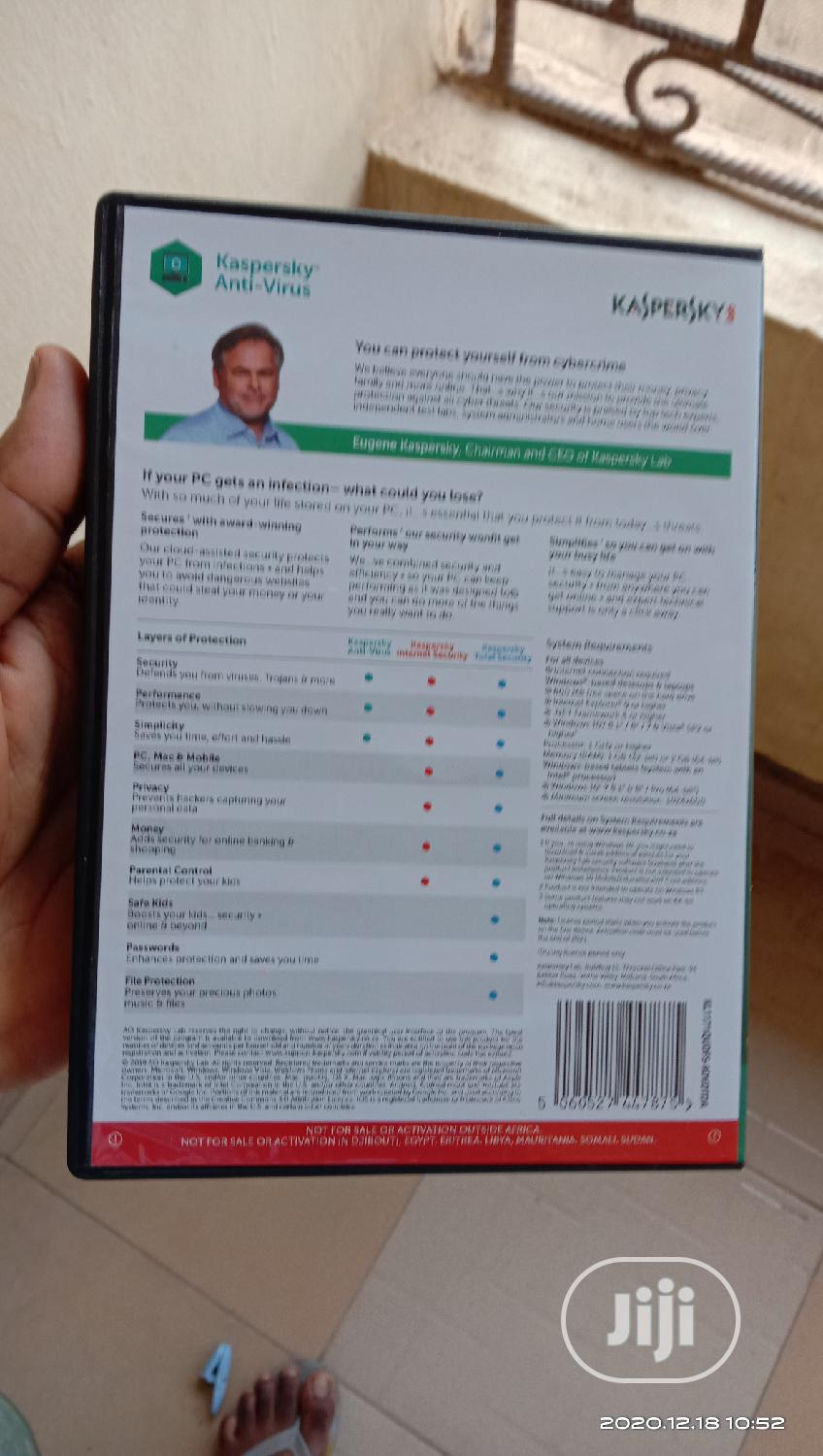 Kaspersky Antivirus Software 4 PC Users   Software for sale in Ojodu, Lagos State, Nigeria