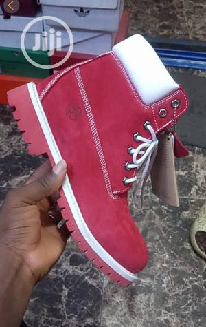 Timberland Mens Red Boot | Shoes for sale in Lagos State, Surulere