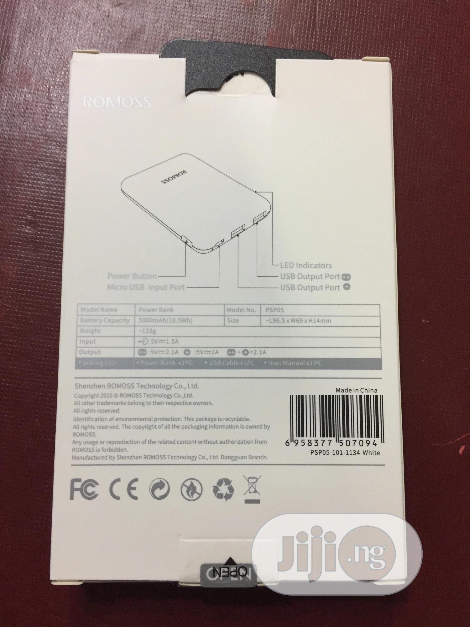Romoss 5000mah Powerbank   Accessories for Mobile Phones & Tablets for sale in Ikeja, Lagos State, Nigeria