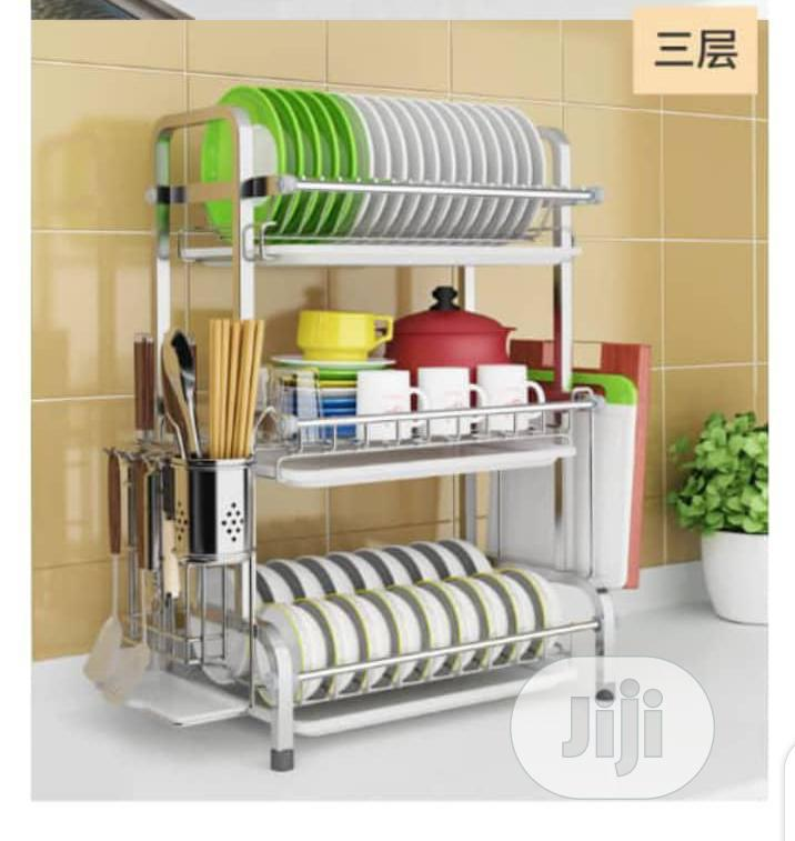 3 Layer Original Stainless Steel Plate Rack