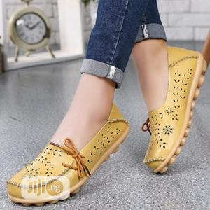 Female Lasercut Loafers Yellow | Shoes for sale in Delta State, Oshimili South