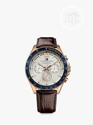 High Quaality TOMMY HILFIGER Leather Watch | Watches for sale in Lagos State, Magodo