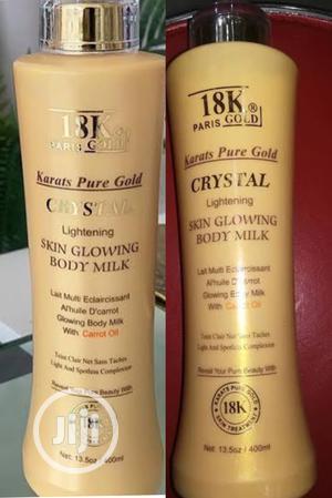 18k Paris Gold Crystal Lighting Skin Glowing Body Milk   Skin Care for sale in Lagos State, Apapa