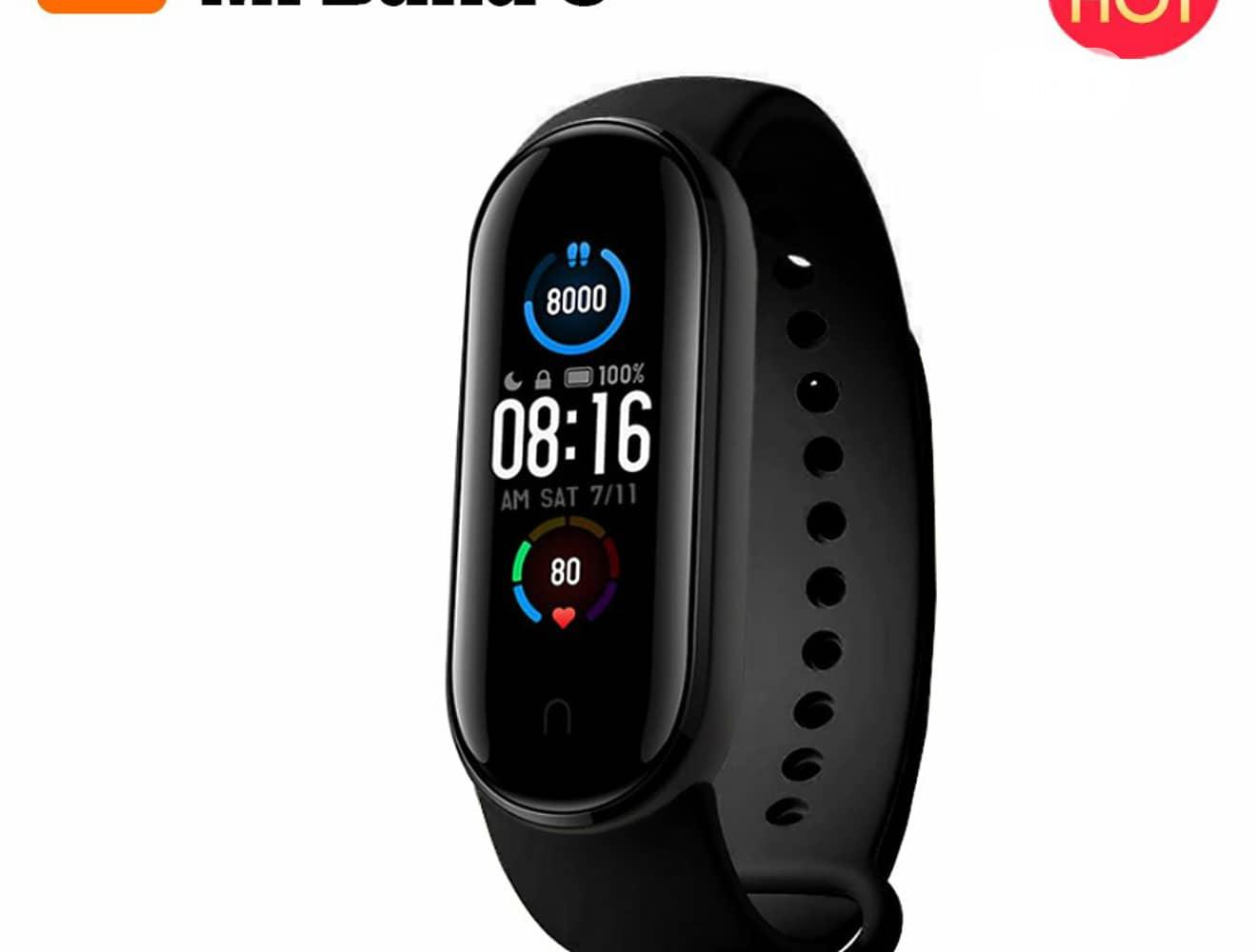 Xiaomi Mi Band 5 Fitness Tracker Smart Watch Sports Health | Smart Watches & Trackers for sale in Ikeja, Lagos State, Nigeria