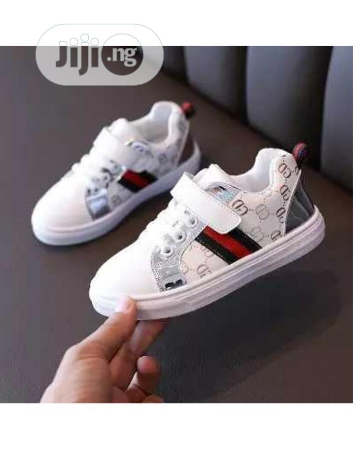 Archive: Silver Stripe White Sneakers